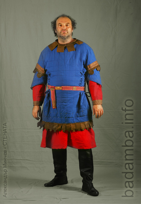 Warrior with gambeson from Zemen